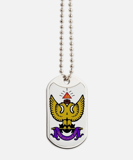 33rd Degree Wings Up Dog Tags