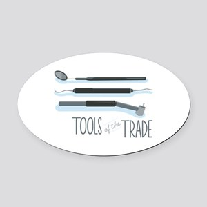 Tools of the Trade Oval Car Magnet