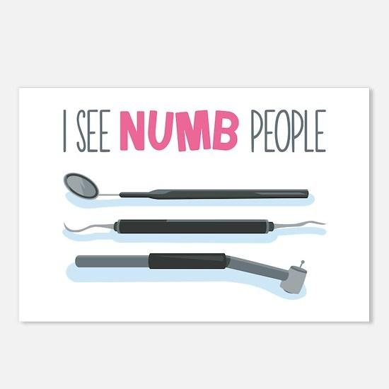 I See Numb People Postcards (Package of 8)