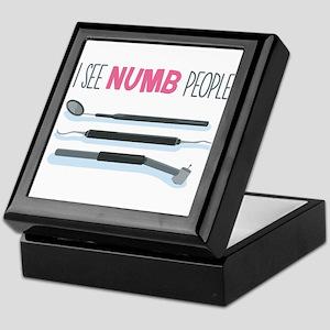 I See Numb People Keepsake Box