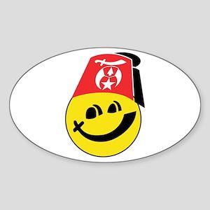 Smiling Shriner Sticker (Oval)