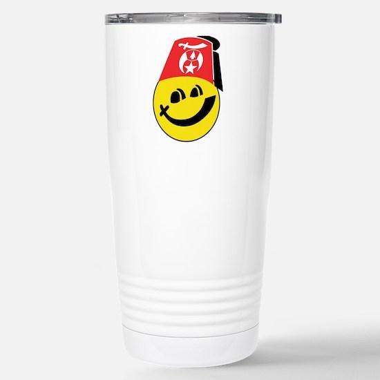 Smiling Shriner Stainless Steel Travel Mug