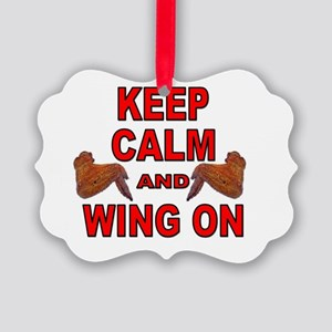 Keep Calm Double Wing Picture Ornament