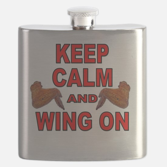 Keep Calm Double Wing Flask
