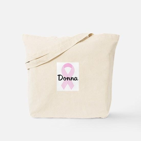 Donna pink ribbon Tote Bag