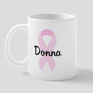 Donna pink ribbon Mug
