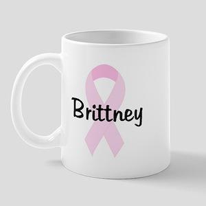 Brittney pink ribbon Mug