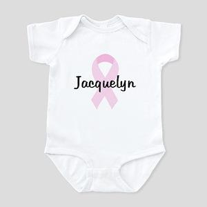 Jacquelyn pink ribbon Infant Bodysuit