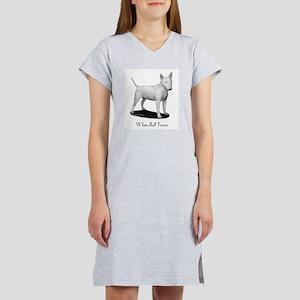 White Bull Terrier Women's Nightshirt