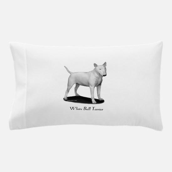 White Bull Terrier Pillow Case