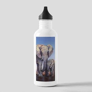 Elephants Mom Baby Water Bottle