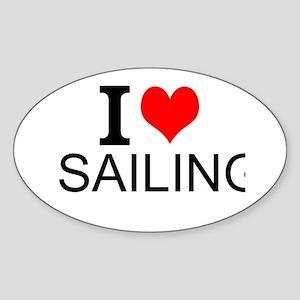 I Love Sailing Sticker