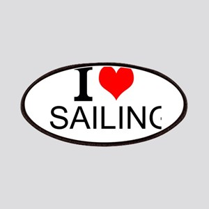 I Love Sailing Patches