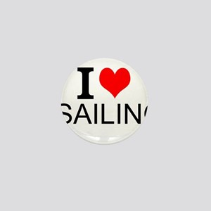 I Love Sailing Mini Button