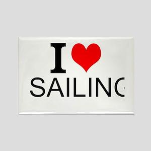 I Love Sailing Magnets