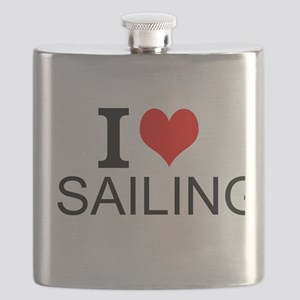 I Love Sailing Flask