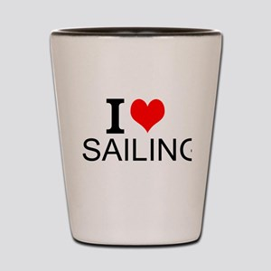 I Love Sailing Shot Glass