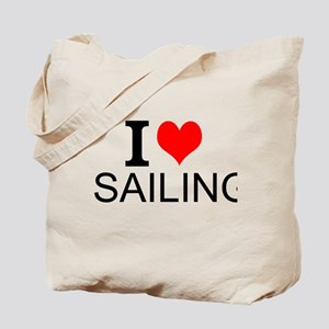 I Love Sailing Tote Bag