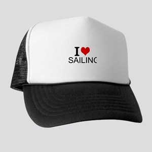 I Love Sailing Trucker Hat