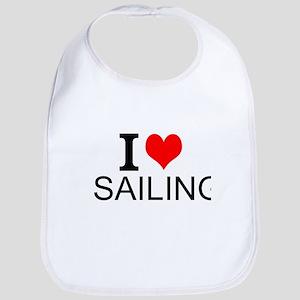 I Love Sailing Bib
