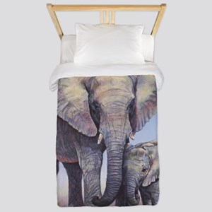 Elephants Mom Baby Twin Duvet