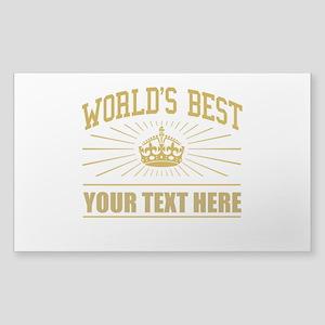 World's best ... Sticker (Rectangle)