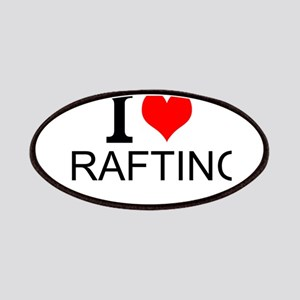 I Love Rafting Patches