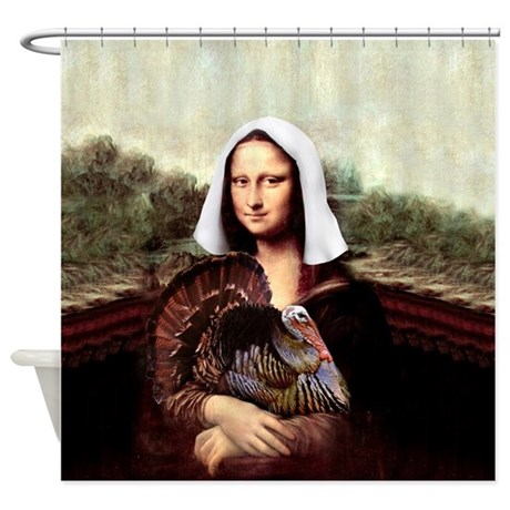 Shower curtain by admin cp3643755 for Mona lisa shower curtain