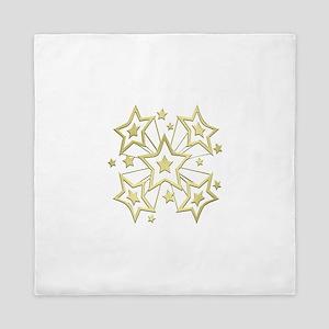 Gold Star Burst Queen Duvet