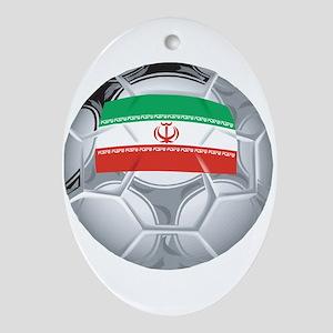 Iran Football Oval Ornament