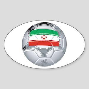 Iran Football Oval Sticker