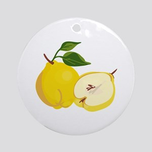 Quince Fruit Ornament (Round)
