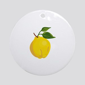 Fruit Quince Ornament (Round)