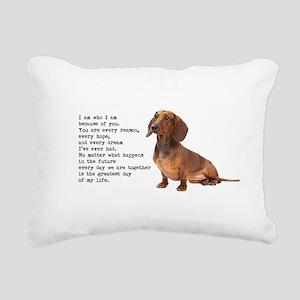Dachshund Rectangular Canvas Pillow