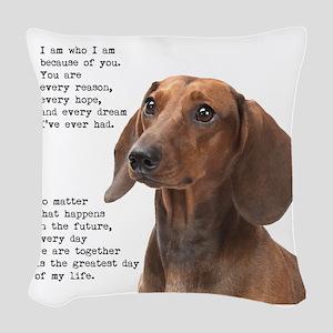 Dachshund Woven Throw Pillow