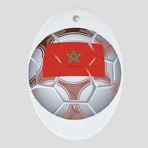 Morocco Football Oval Ornament