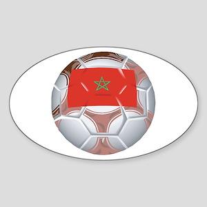 Morocco Football Oval Sticker