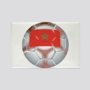 Morocco Football Rectangle Magnet