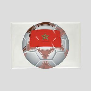 Morocco Football Rectangle Magnet