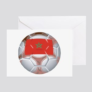 Morocco Football Greeting Cards (Pk of 10)