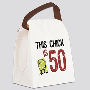 Women's Funny 50th Birthday Canvas Lunch Bag