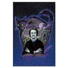 Edgar Allan Poe Black Cat Large Poster