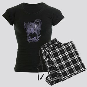 Edgar Allan Poe Black Cat Women's Dark Pajamas