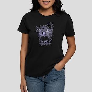 Edgar Allan Poe Black Cat Women's Dark T-Shirt