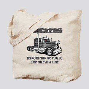 Truckers-Terrorizing The Public, One Mile Tote Bag
