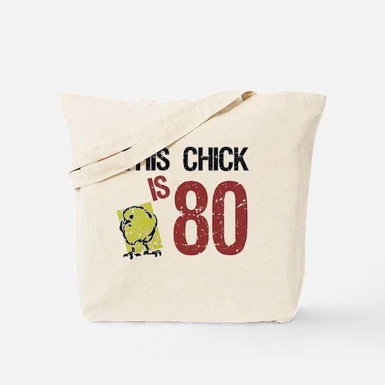Women's Funny 80th Birthday Tote Bag