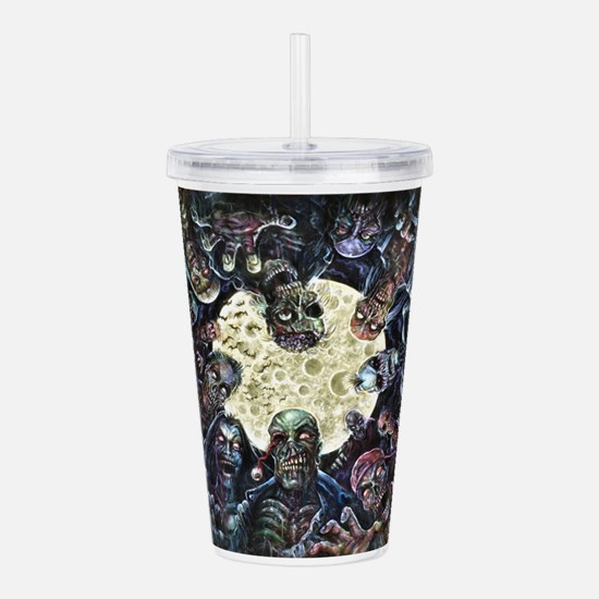 Zombies Full Moon Atta Acrylic Double-wall Tumbler