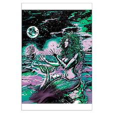 Mermaid Siren Atlantis Pearl Large Poster