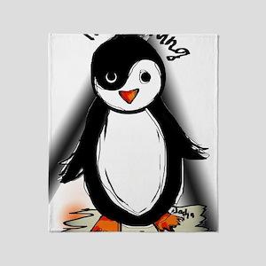 Yin Yang Penguin Throw Blanket