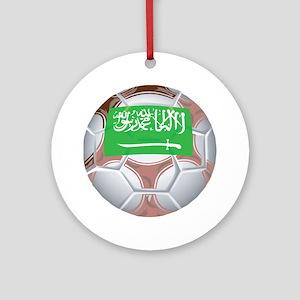 Saudi Arabia Football Ornament (Round)